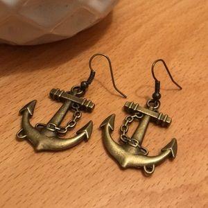 Jewelry - Bronze Anchor Earrings